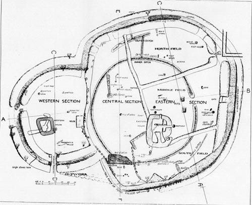 Карта раскопок Ушнеха
